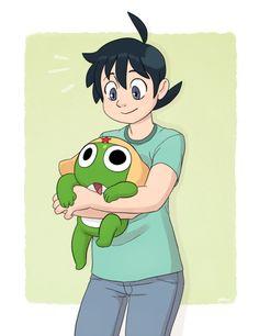Sergeant Frog - Hinata Fuyuki and Keroro #keroro_gunso