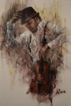 Lovely painting... appeals to me because I use to play the violin/fiddle. Still an amazing work of art.