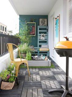 mur jardin peint