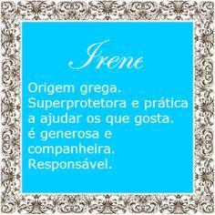 Significado do nome Irene   Significado dos Nomes
