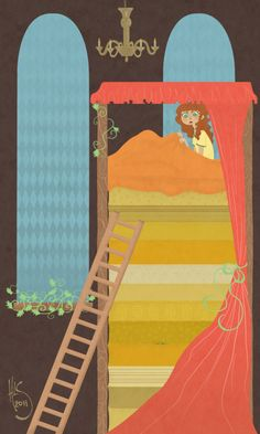 """""""The Princess and the Pea"""" by HannahClover (one of my favorite stories as a child)"""