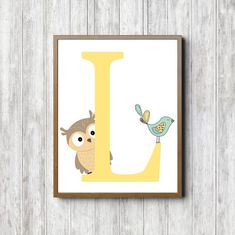 Instant Download  L Monogram Nursery /Kids Room by PrimroadDesigns