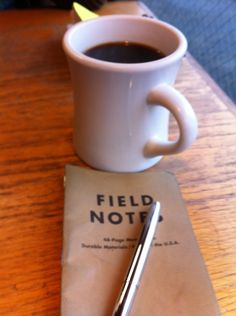 It's a good morning if it starts like this: coffee, field notes, space pen. Yes, please.
