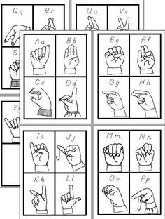 CHSH - ASL American Sign Language Teacher Resources and Worksheets