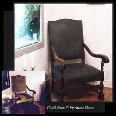 Annie Sloan Chalk Paint Graphite Annie Sloan Chalk Paint Graphite, Rocking Chair, Paint Colors, Armchair, Fabric, Painting, Furniture, Home Decor, Chair Swing