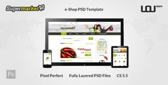 SUPERMARKET - e-Shop PSD Template by uouapps  SUPERMARKET is the ideal e-Shop PSD Template for Supermarkets & Recipes SUPERMARKET includes a wide range of options that combine a user-friendly interface with an excellent user-experience.The Template includes:2 different Home