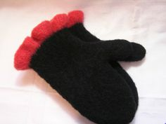 Custom Ordered  Knitted and Felted Mittens by DesignsbyFredericka, $40.00