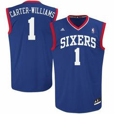 adidas Michael Carter-Williams Philadelphia 76ers Rookie Replica Alternate  Jersey - Royal Blue Basketball Shirts 963ec0066
