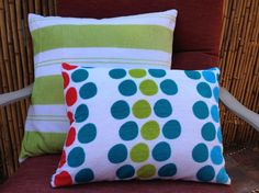 Upcycle beach towels into patio pillows (HomeJelly)