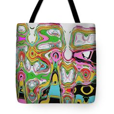Janca Abstract #101 Tote Bag by Tom Janca.  The tote bag is machine washable, available in three different sizes, and includes a black strap for easy carrying on your shoulder.  All totes are available for worldwide shipping and include a money-back guarantee.