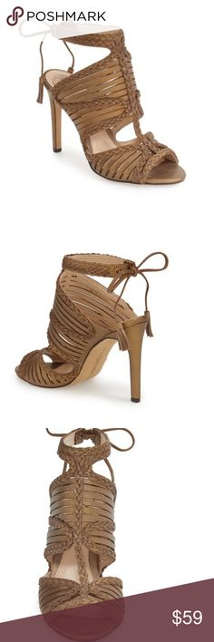 """🆕🚨SALE🚨 Vince Camuto Sandals Stunning Grecian inspired sandals. Feature wraparound ankle strap with lace-up closure. Heel approx. 4"""". Sandals are new, never worn, without the box. 🚨Price firm unless bundled.🚨 Vince Camuto Shoes Sandals"""