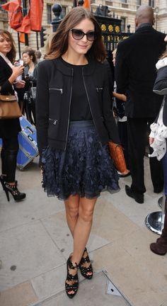 Olivia Palermo - feathered skirt