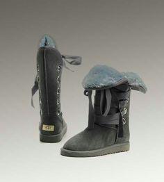 Womens UGG Tall Roxy 5818 Grey Boots