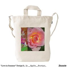 """Love in Summer"" Design by Carole Tomlinson©2016 Duck Canvas Bag"