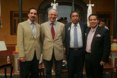 El Dr. Buscaglia, Maestro Javier Martínez y mi compañero el Dip. Adrián Juárez.