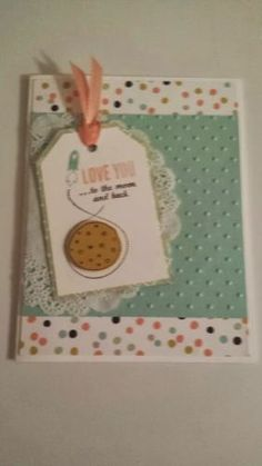 Stampin Up Love You to The Moon All Occasion Handmade Card enV | eBay