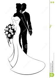 Wedding concept of bride and groom couple in silhouette, the bride in a white bridal dress gown holding a floral wedding bouquet of flowers Wedding Silhouette, Silhouette Art, Wedding Art, Floral Wedding, White Bridal Dresses, Quilling Patterns, The Bride, Floral Bouquets, New Art