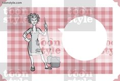 Greeting card with angry housewife – personalize your card with a custom text