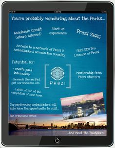 Prezi is an online presentation software that enables people to collaborate and communicate effectively to create presentations that go above and beyond all expectations! Great for in the classroom where students can work together on group projects with Prezi!