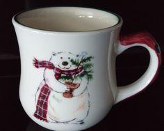 PHALTZGRAFF Holiday Chubby Ceramic Porcelain Mug Bear Graphic #Phaltzgraff