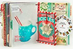 December Daily - Day 21 by MarieL at Adique-Alarcon Adique-Alarcon Phillips Mounier Calico Christmas Mini Albums, Christmas Journal, Christmas Scrapbook, Christmas Minis, Christmas Crafts, Retro Christmas, December Daily, Daily Day, Journal Inspiration