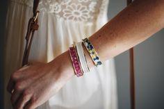 Gold Royal Linens   Narrow Hair Tie Bracelet