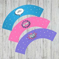 Supergirl Party Cupcake Wrappers | Jackal Design