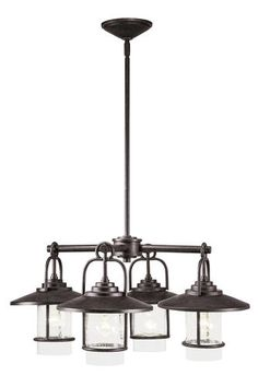 Patriot Lighting® Elegant Home Miner Bronze 4-Light Chandelier at Menards