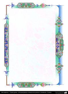 Arte islámico – Tazhib persa - cuadro - 87 | Galería de Arte Islámico y Fotografía