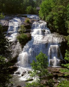 High Falls in DuPont State Forest near Asheville NC