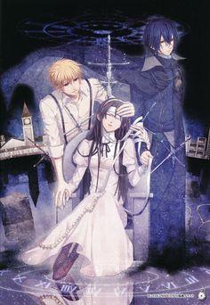 Clock Zero #game #otomegame Manga Illustration, Illustrations, Geek Culture, Mobile Wallpaper, Anime Love, Anime Couples, Anime Manga, Game Art, Anime Characters