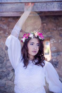 Heiraten auf Mallorca mit Blumenkranz und Meer von Pretty Weddings   Hochzeitsblog - The Little Wedding Corner