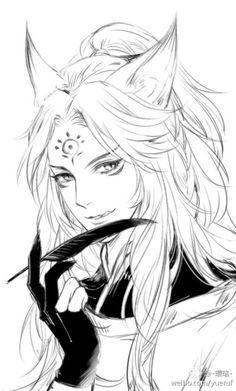 ❀ line draft Gallery ❀ Onmyoji demon fox anime wallpaper love . Anime Drawings Sketches, Manga Drawing, Manga Art, Art Drawings, Anime Art Fantasy, Male Character, Character Design, Poses Anime, Hair Sketch