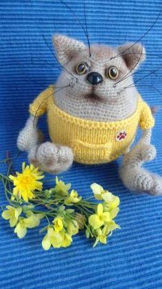 Кот толстячок - Мои любимки - Галерея - Форум почитателей амигуруми (вязаной игрушки)