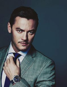 """queenofdale:    14/∞ pictures of Luke Evans because there is never enough of Luke on your dashboard (and mine)   """"  One funny thing is, though, I wear my watch on my right hand and I'm actually right-handed. People always wonder why - I don't know myself, I've just always done it that way and I like it the way a good watch fits on my right wrist."""""""
