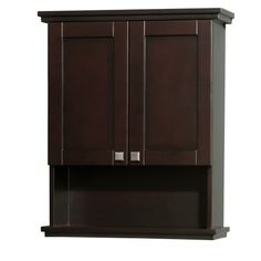 Wyndham Collection Acclaim Solid Oak Bathroom Wall-Mounted Storage Cabinet in Espresso Wyndham Collection http://www.amazon.com/dp/B00A1QJDVK/ref=cm_sw_r_pi_dp_sr.jvb0831DB4