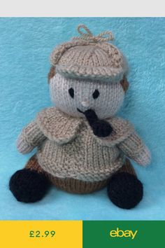 KNITTING PATTERN Noddy inspired chocolate orange cover or 15cms toy