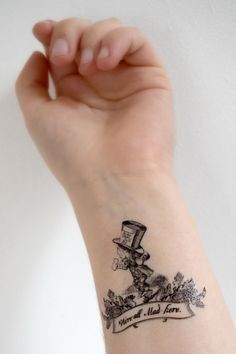 Alice in Wonderland Temporary Tattoo's by HilliaryCustomLiving, $4.00