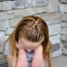 "344 Likes, 16 Comments - Tiffany ❤️ Hair For Toddlers (@easytoddlerhairstyles) on Instagram: ""Dutch lace headband braids are one of my favorite styles so we mixed it up today and it turned out…"""