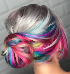 Vivids Hair Color Ideas Worth Trying. Bold and Fun awesome hair color ideas. Pulp Riot Hair Color, Coloured Hair, Pinterest Hair, Mermaid Hair, Mermaid Makeup, Pastel Hair, Cool Hair Color, Crazy Hair Colour, Great Hair