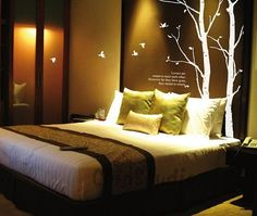 Tall Tree Wall Decal Vinyl Wall Tree Stickers  Thin by ChinStudio, $59.00