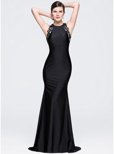 957a3cbdc97 Trumpet/Mermaid Scoop Neck Court Train Jersey Evening Dress With Lace  Beading Beaded Lace,