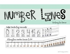 These number lines feature starting black dots for young writers to practice where to start handwriting thier numerals. Also features ten frame ima...