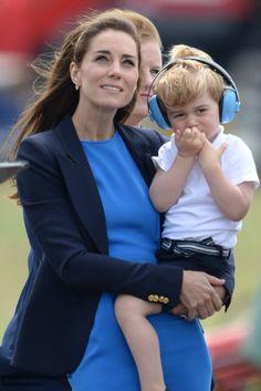 hrhduchesskate: Royal International Air Tattoo, July 8, 2016-Duchess of Cambridge and Prince George