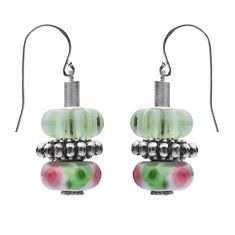 Classic and Short Stick Earrings - Interchangeable Bead Jewelry by MOXIE -  Incl. 2 FREE charm beads - http://www.europeartimport.com - JEWELS by REGINA +  ReginasDreamCreation on Etsy, $65.00