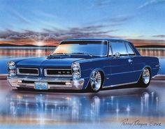 1965 Pontiac GTO Hardtop Muscle Car Art Print 11x14 65
