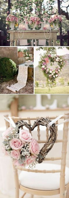 Pretty pastel wedding decor.