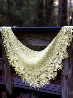 by picnicknits, via Flickr Wendell Holmes shawl designed by Corrina Ferguson