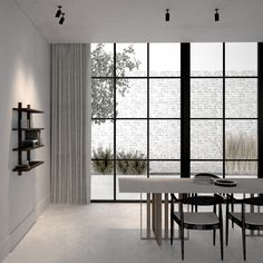 Dining room, windows to terrace