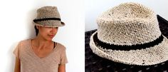 Crochet a fedora hat